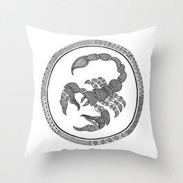 Zodiac Sign Scorpio Throw Pillow