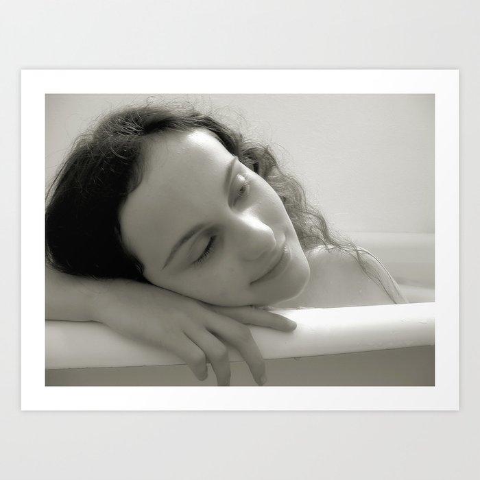Bathtub Dreams Art Print