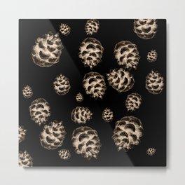Conifer cone pattern - negative Metal Print