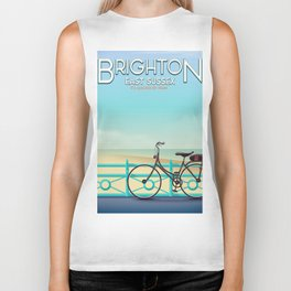 Brighton, East Sussex vintage travel poster. Biker Tank