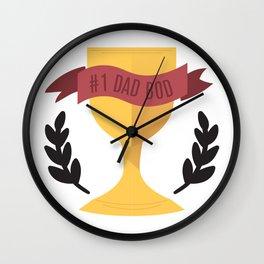 #1 Dad Bod Wall Clock