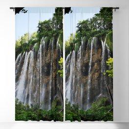 veliki prštavac waterfall plitvice lakes national park croatia std Blackout Curtain