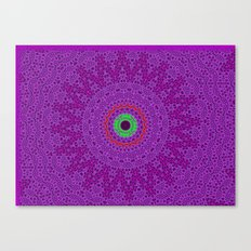 Lovely Healing Mandalas in Brilliant Colors: Purple, Pink, Red, Green and Brown Canvas Print