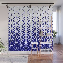 Sacred Geometry Dark Blue Wall Mural