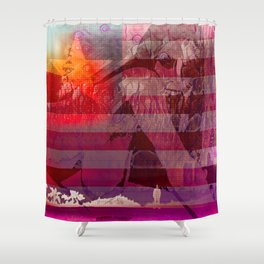 Fast Fading Star Shower Curtain