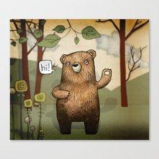 The Little Bear Canvas Print