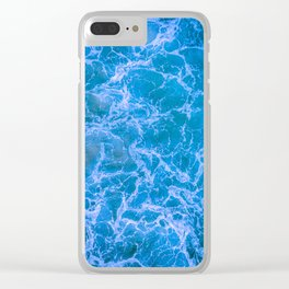 Stormy Blue Waters Clear iPhone Case
