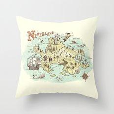 Neverland Map Throw Pillow