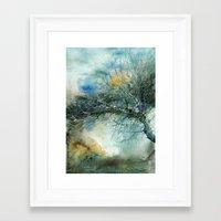 lake Framed Art Prints featuring Lake by Iris V.