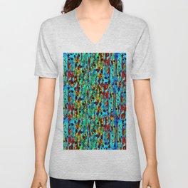 Multicolored Unisex V-Neck