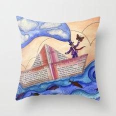 The Sailor Dreamer Throw Pillow