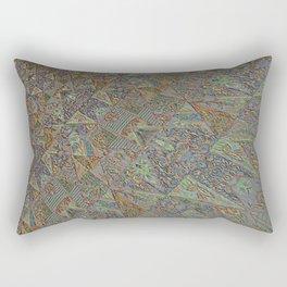Patchwork hint of rGreen Rectangular Pillow