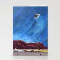 ufo Stationery Cards featuring UFO  by dreamshade
