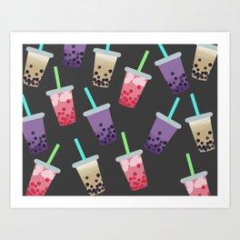 Bubble Tea Party Art Print