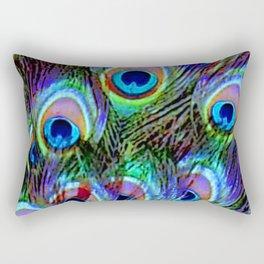 Peacock Feathers - Secret Garden  Rectangular Pillow