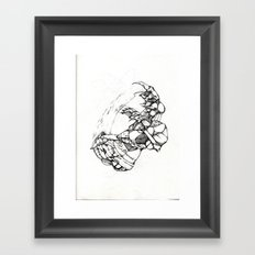 Claws and Scars Framed Art Print