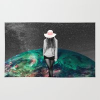 alone Area & Throw Rugs featuring Alone by Cs025
