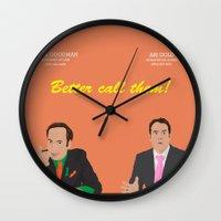 better call saul Wall Clocks featuring Better call them! Saul Goodman - Ari Gold by Lucho Margolin