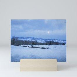 Full Moon Over a Field of Snow Mini Art Print