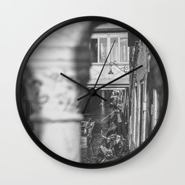 A view of Venice in B/W Wall Clock
