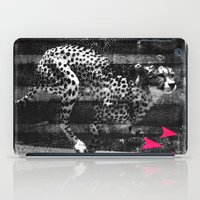 runner iPad Cases featuring speed runner by frederic levy-hadida