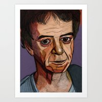lou reed Art Prints featuring Lou Reed by Cara Andrianos