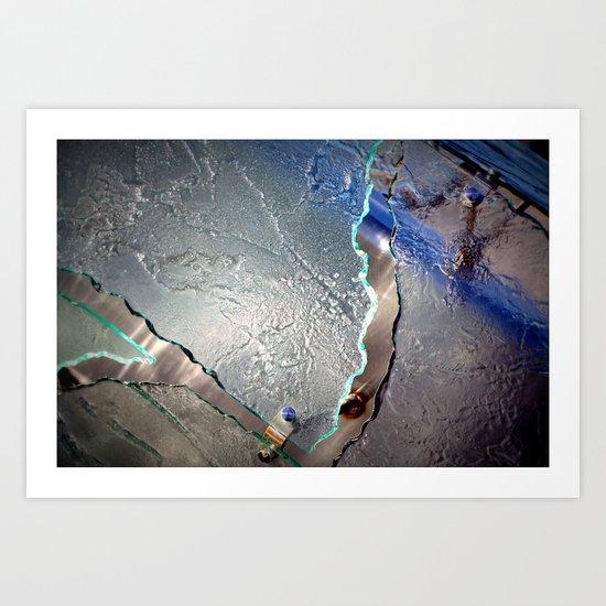 Something blue Art Print