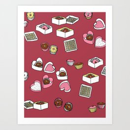 Happy Bon Bons Art Print