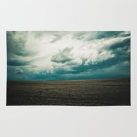 montana Area & Throw Rugs featuring Montana Sky by Emerald Shatto