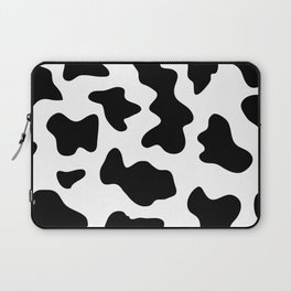 black and white ranch farm animal cowhide western country cow print Laptop Sleeve