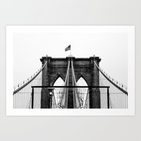 brooklyn bridge Art Prints featuring Brooklyn Bridge by Graham Dunk