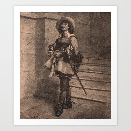 The Cavalier (Vintage) Art Print