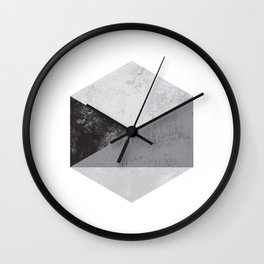 Hexagon Art Wall Clock