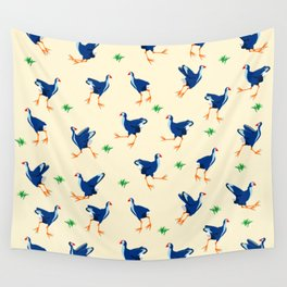 Pukeko swamp hen pattern Wall Tapestry