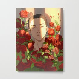 Surrounded by Roses Metal Print