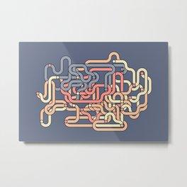 Pipe colorful tubes art Metal Print