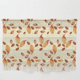Scattered Autumn Leaves Wall Hanging
