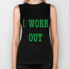 body art athlete de rue green color Biker Tank