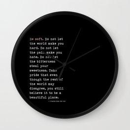 The Fur Wall Clock