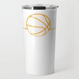 Heartbeat Heart Pulse Rate Basketball Gift Travel Mug