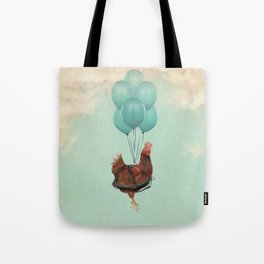 Chickens Can't Fly Tote Bag
