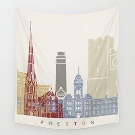 Preston skyline poster Wall Tapestry