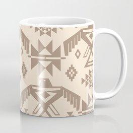 Southwestern Thunderbird Kilim in Ecru + Taupe Coffee Mug