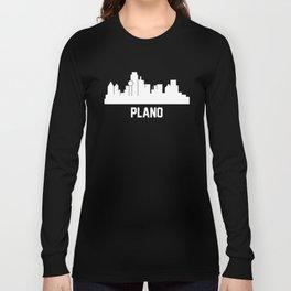 Plano Texas Skyline Cityscape Long Sleeve T-shirt