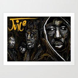 Juice 1992 Tribute Gold version Art Print
