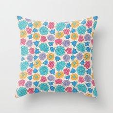 RocoFloral (peach) Throw Pillow