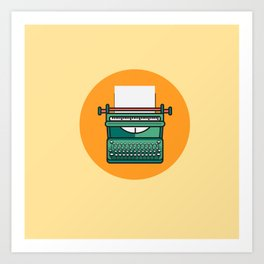 Typewriter Icon Art Print