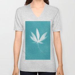 Canabis Leaf - Art Print Unisex V-Neck