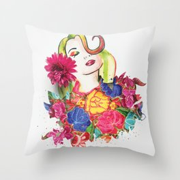 Marley flowers Throw Pillow