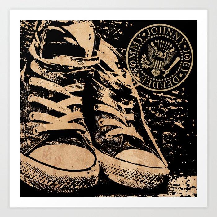 Ramones Shoes Art Print